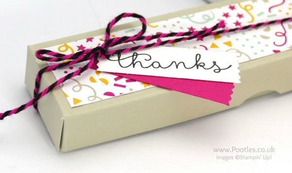 Stampin' Up! Demonstrator Pootles - Way Back Wednesday Tealight Treat Box Tutorial Tag Detail