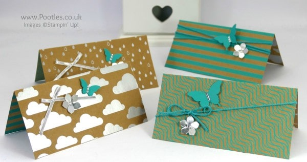 Stampin' Up! Demonstrator Pootles - 12 Cards using Shine On Speciality DSP Bermuda Bay