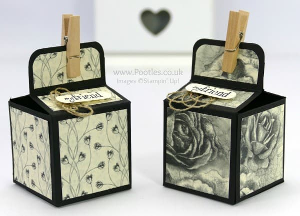 Stampin' Up! Demonstrator Pootles - 2 inch 5cm Cube Box Tutorial Using Timeless Elegance