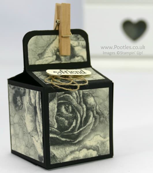 Stampin' Up! Demonstrator Pootles - 2 inch 5cm Cube Box Tutorial Using Timeless Elegance Close Up