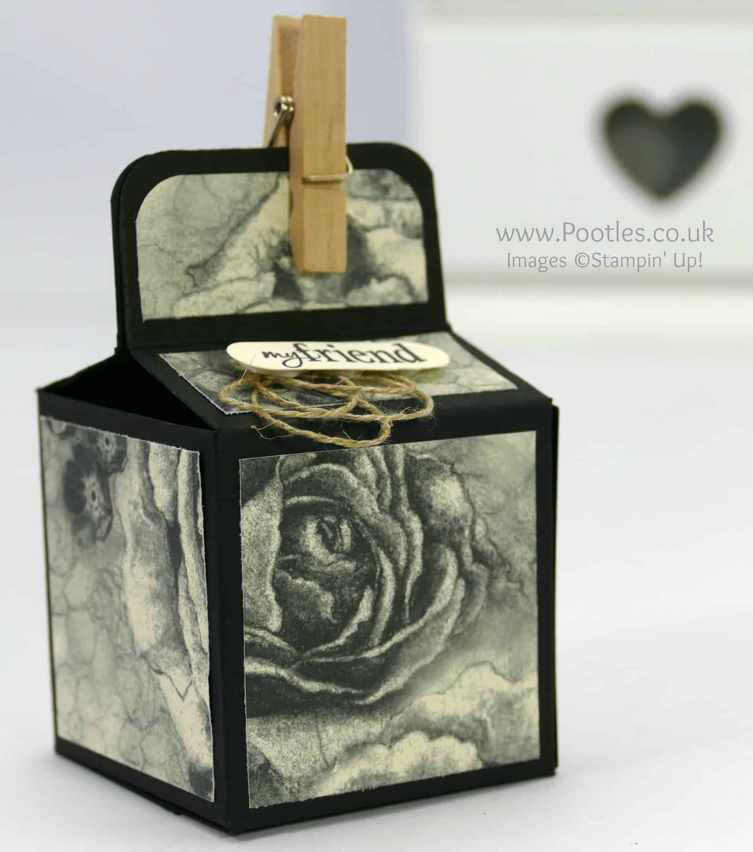 2 inch 5cm Cube Box Tutorial Using Timeless Elegance