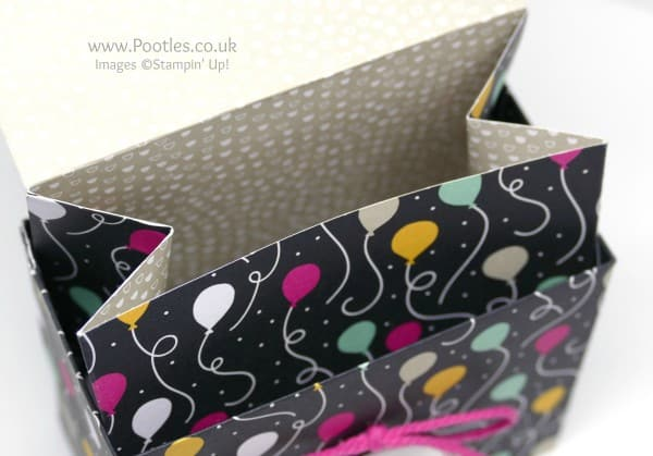 Stampin' Up! Demonstrator Pootles - Clever But Simple Bag in a Box Tutorial Open