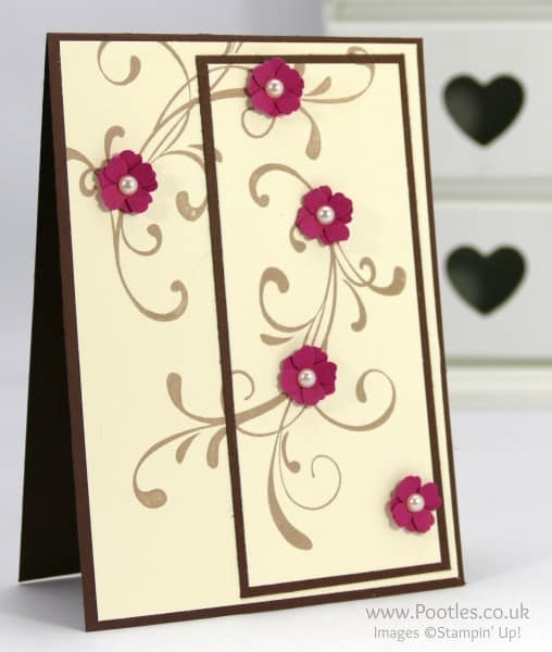 Stampin' Up! Demonstrator Pootles - Everything Eleanor Double Time Stamping flower detail