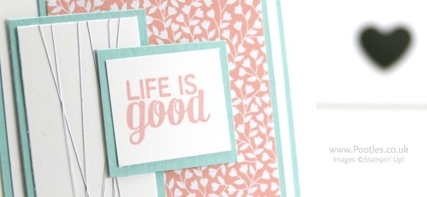 Stampin' Up! Demonstrator Pootles - Life is Good with Project Life and Love Blossoms close up