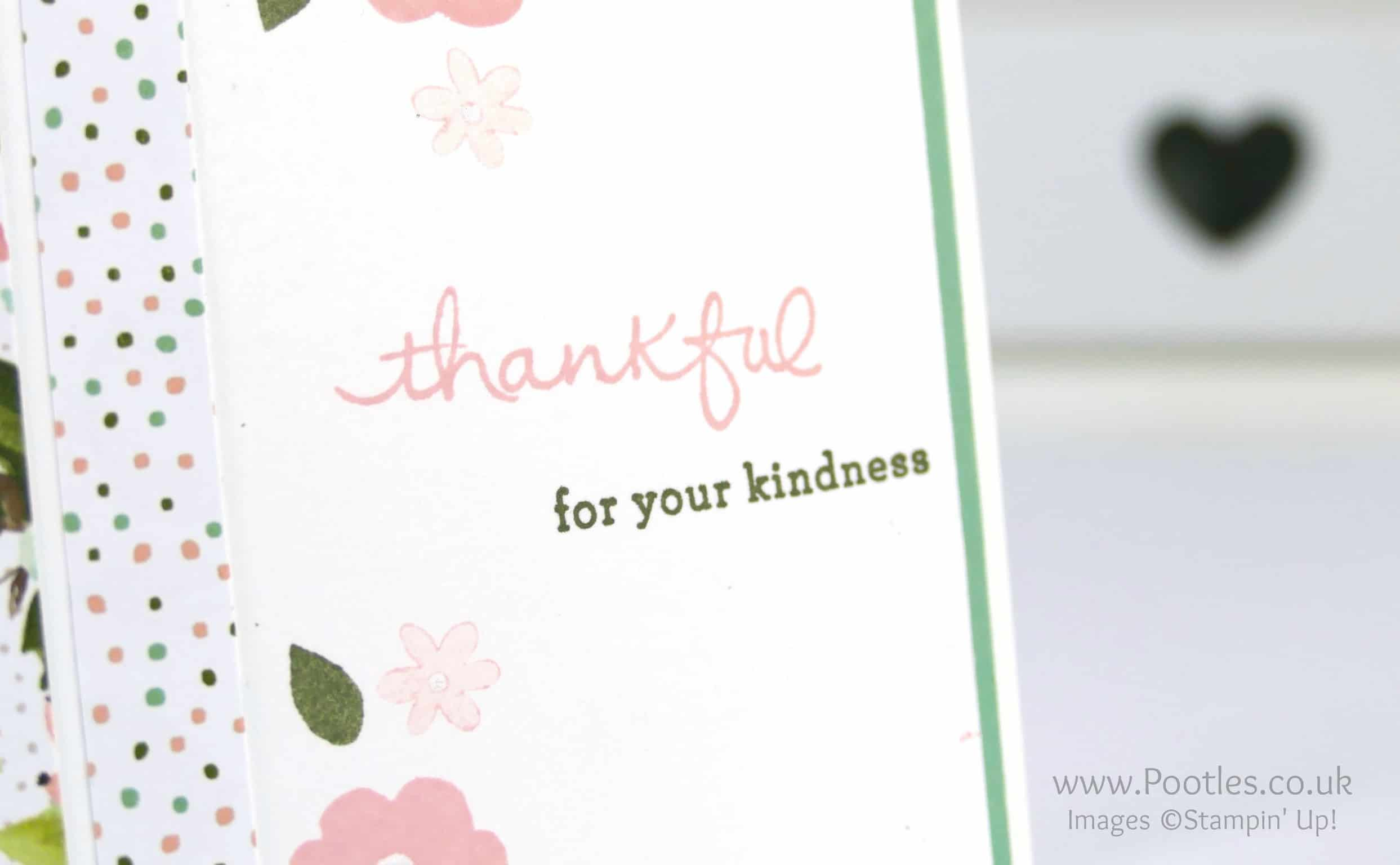 Pretty Floral Card using Endless Thanks & Birthday Bouquet DSP