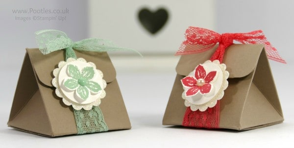 Stampin' Up! Demonstrator Pootles - Tip Top Taupe Triangular Treat Box Tutorial