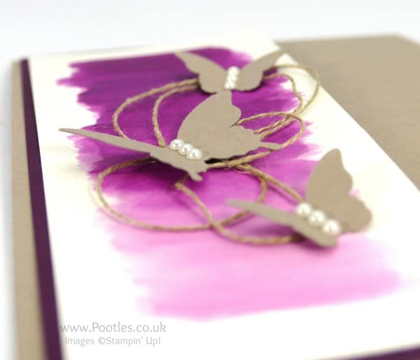 Stampin' Up! Demonstrator Pootles - Watercolour Blackberry Bliss and Butterflies Flying