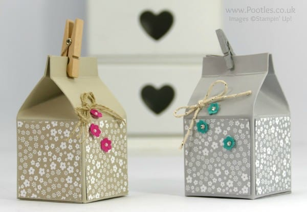 Stampin' Up! Demonstrator Pootles - Way Back Wednesday Mini Hand Cut Milk Carton Tutorial