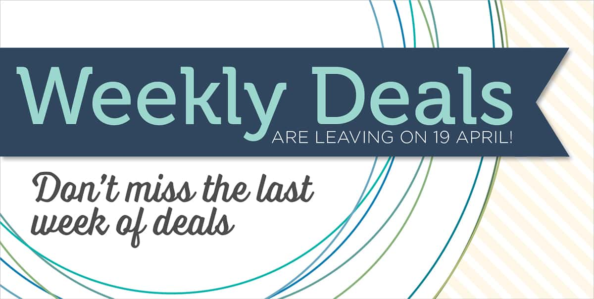 Stampin' Up! Weekly Deals End Tuesday…