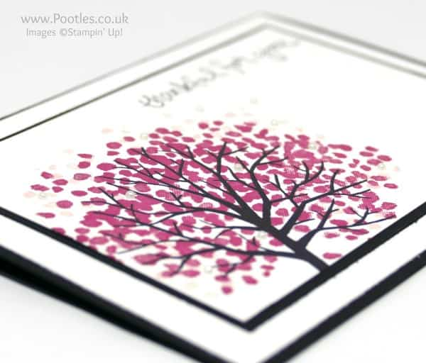 Stampin' Up! Demonstrator Pootles - Cherry Blossom Sheltering Tree Pearl Detail
