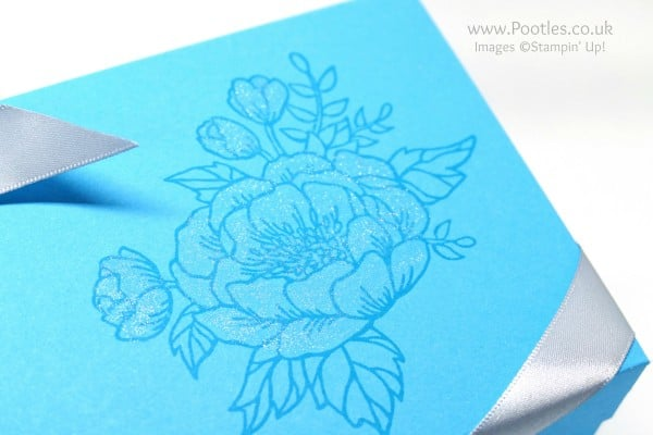 Stampin' Up! Demonstrator Pootles - Extra Large Lidded Box Using Birthday Blooms Wink of Stella
