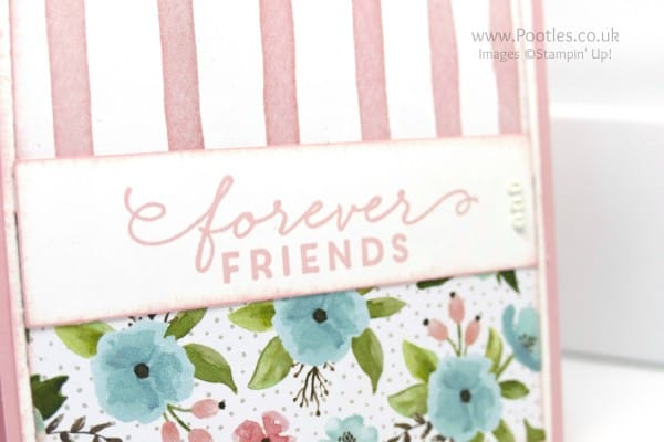 Stampin' Up! Demonstrator Pootles - First Sight and Birthday Bouquet makes Forever Friends Close up