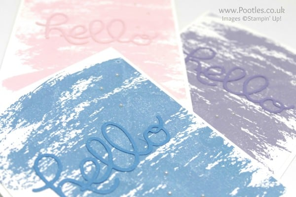 Stampin' Up! Demonstrator Pootles - Hello Watercolour! Die Cut Detail