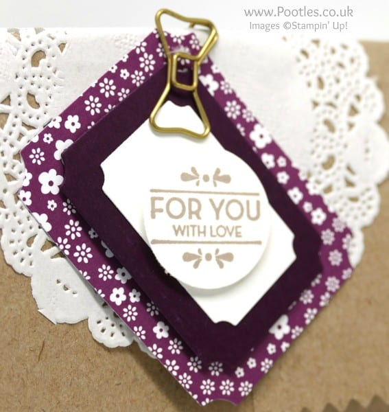 Stampin' Up! Demonstrator Pootles - Thank You Gifts using Tags & Labels Framelits Close UP
