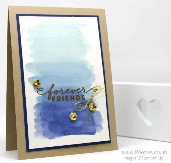 Stampin' Up! Demonstrator Pootles - Watercolouring with First Sight and Forever Friends