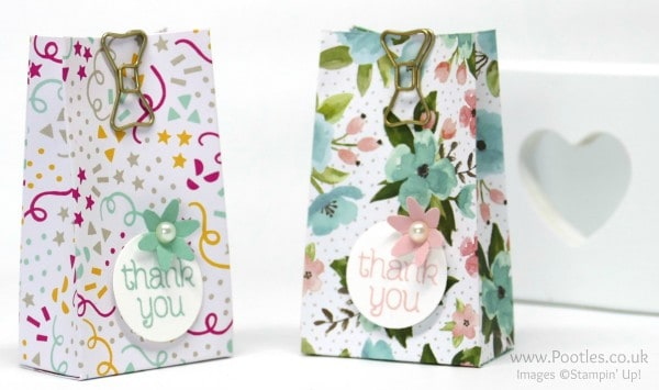Stampin' Up! Demonstrator Pootles - Way Back Wednesday 6 Bags from 1 Sheet of Paper