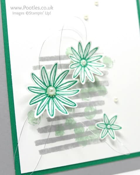 Stampin' Up! Incentive Trip Card Swaps using Playful Backgrounds Grateful Bunch