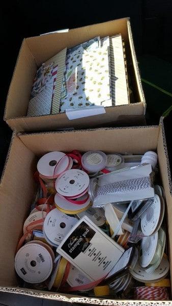 donated stuffs.