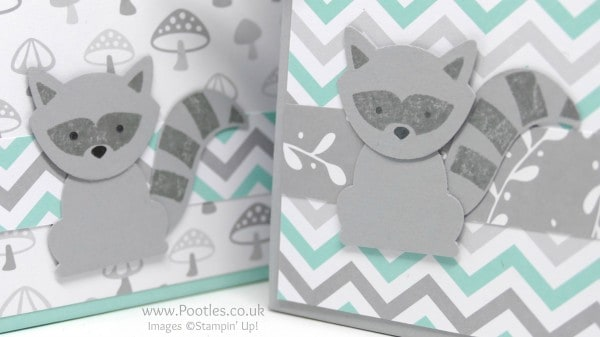 Pootles' Way Back Wednesday Foxy Friends Easy Stick Bag Racoon Cutey!