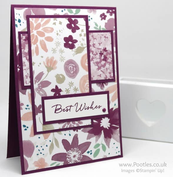 Stampin' Up! Demonstrator Pootles - Best Wishes with Blooms and Wishes!
