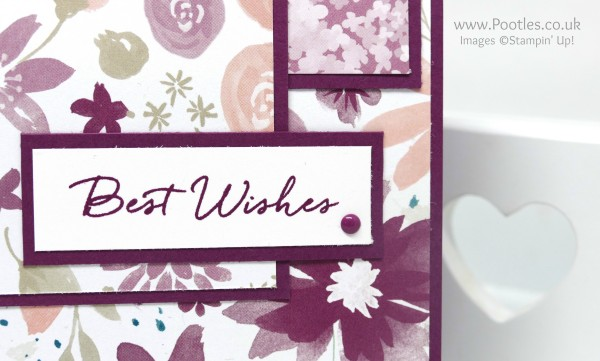 Stampin' Up! Demonstrator Pootles - Best Wishes with Blooms and Wishes! Close UP