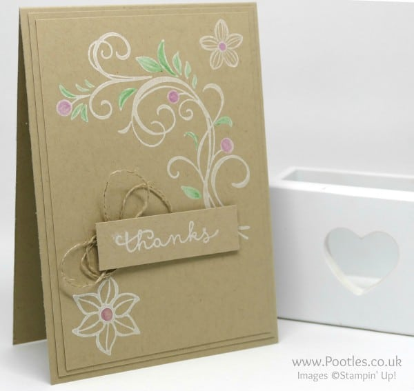 Stampin' Up! Demonstrator Pootles - Falling Flowers, inked and coloured