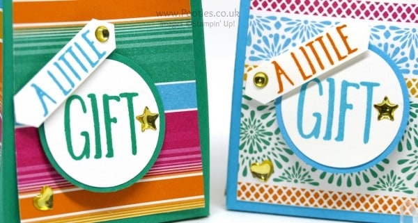Stampin' Up! Demonstrator Pootles - Festive Fiesta Goodie Bag Perfectly Wrapped Stamping