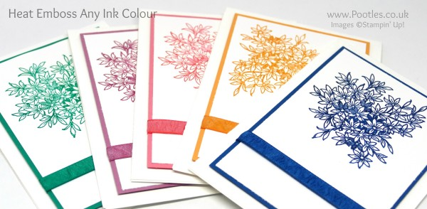 Stampin' Up! Demonstrator Pootles - How To Heat Emboss Any Ink Colour in colours