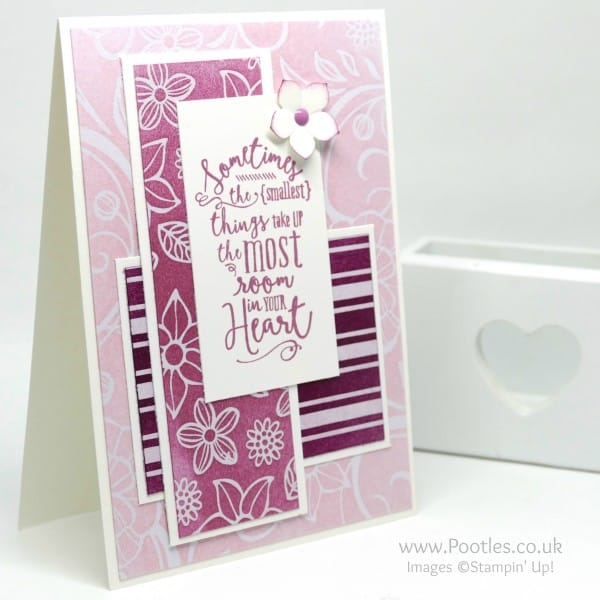 Stampin' Up! Demonstrator Pootles - Irresistibly Floral, Sponged in 3 pinks!