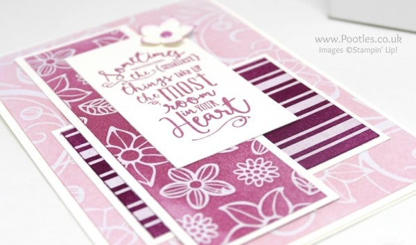 Stampin' Up! Demonstrator Pootles - Irresistibly Floral, Sponged in 3 pinks! Close UP