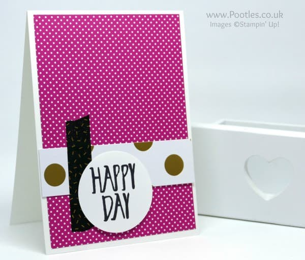 Stampin' Up! Demonstrator Pootles - Pop of Pink Customer Thank You Cards