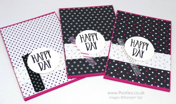 Stampin' Up! Demonstrator Pootles - Pop of Pink Customer Thank You Cards Pink Card Blank