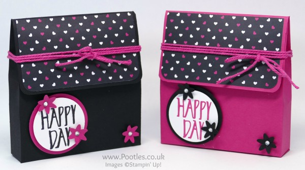 Stampin' Up! Demonstrator Pootles - Pop of Pink Heart Bag