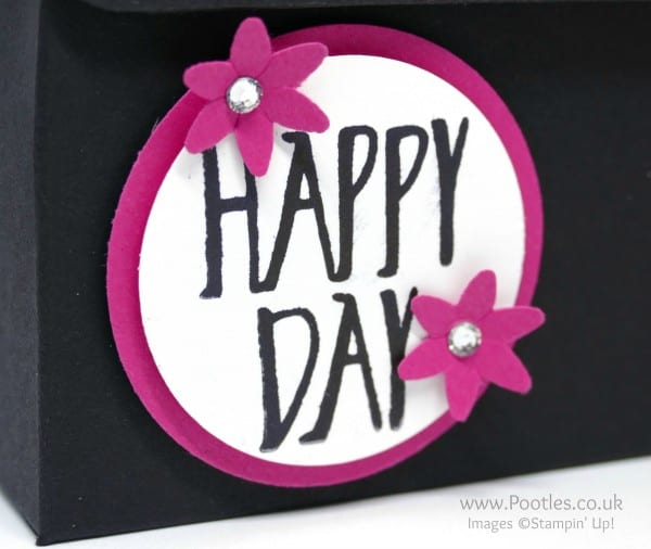 Stampin' Up! Demonstrator Pootles - Pop of Pink Heart Bag Perfectly Wrapped Stamp SEt