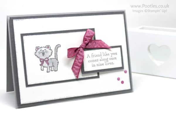 Stampin' Up! Demonstrator Pootles - Pretty Kitty - To Bow or Not To Bow Bow