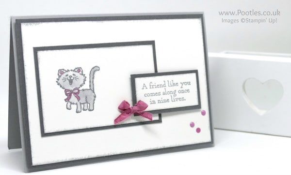 Stampin' Up! Demonstrator Pootles - Pretty Kitty - To Bow or Not To Bow Tiny Bow