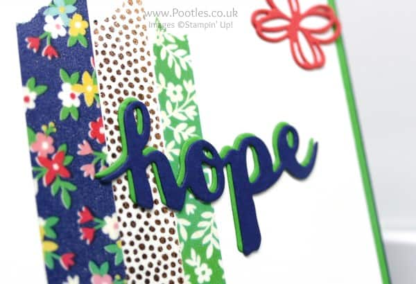 Stampin' Up! Demonstrator Pootles - Sunshine Wishes are Affectionately Yours! Die Cut Detail