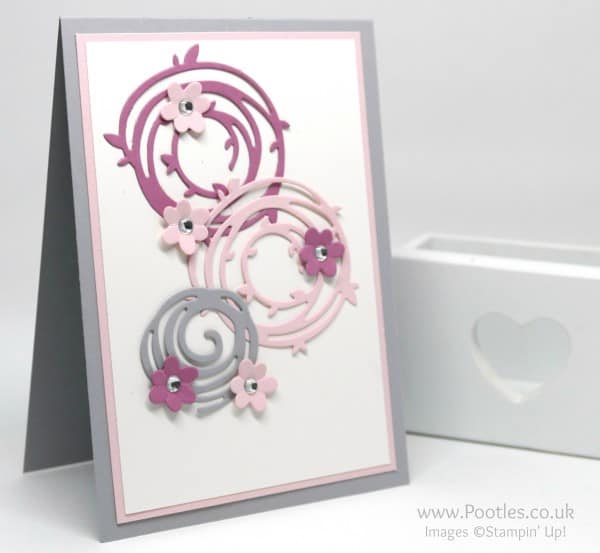 Stampin' Up! Demonstrator Pootles - Swirly Scribbles in Stampin' Up! Pinks and Grey