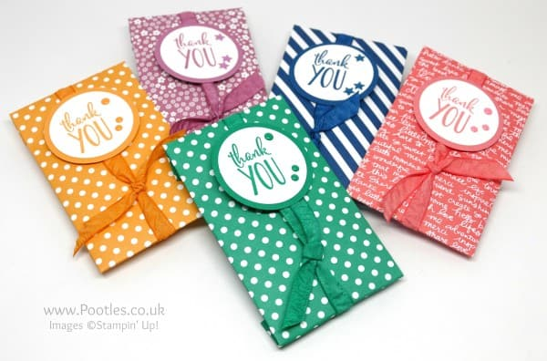 Stampin' Up! Demonstrator Pootles - Thank You Coffee Gifts using Stampin' Up! In Colours 5 Colours