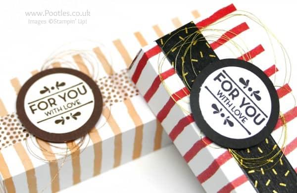 Stampin' up! Demonstrator Pootles - 6x6 Cute Box using Stampin' Up! Fruit Stand Paper Stamping Detail