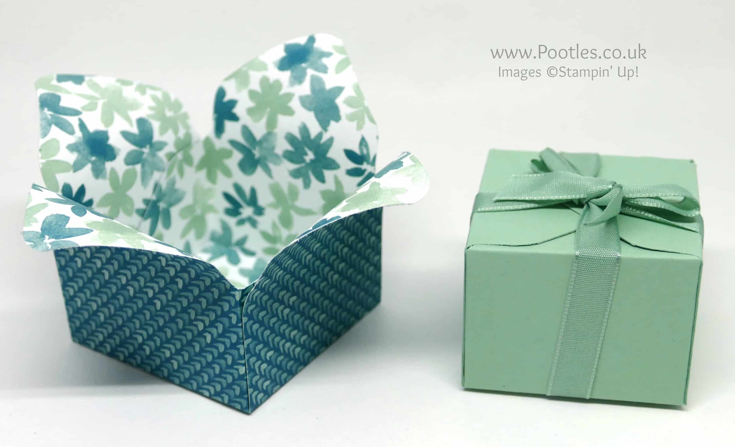 Pootles' Way Back Wednesday Envelope Punch Board Box in a Flower