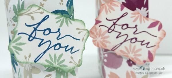 Stampin' Up! Demonstrator Pootles - Blooms & Bliss Pretty Box Stamping Detail