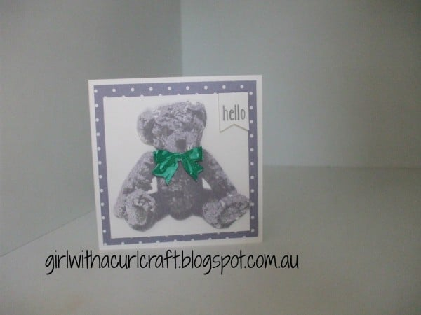 Stampin' Up! Demonstrator Pootles' Colour Challenge 002 Winner Donna Girl with a Curl