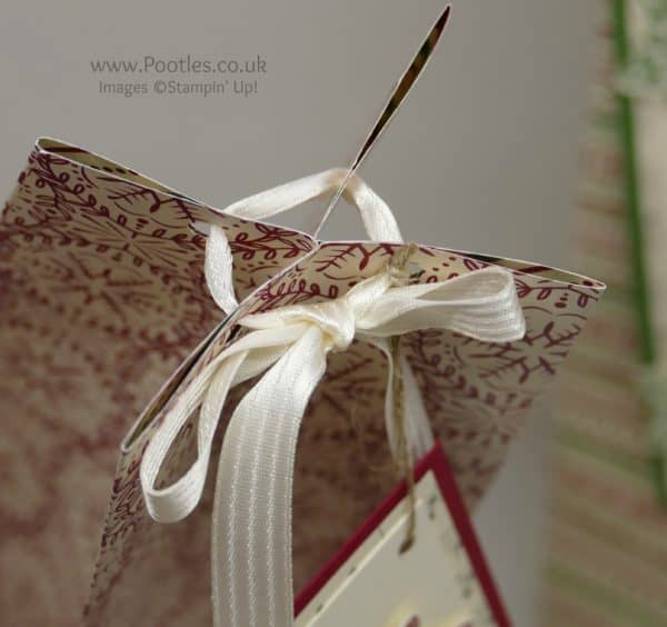 Stampin' Up! Demonstrator Pootles - Extra Huge Christmas Box using This Christmas Speciality Paper Top