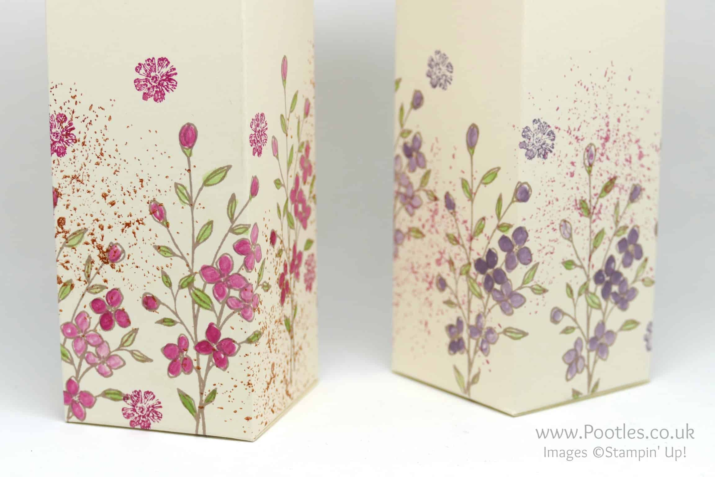 Hand Decorated Box using Stampin' Up! Touches of Texture