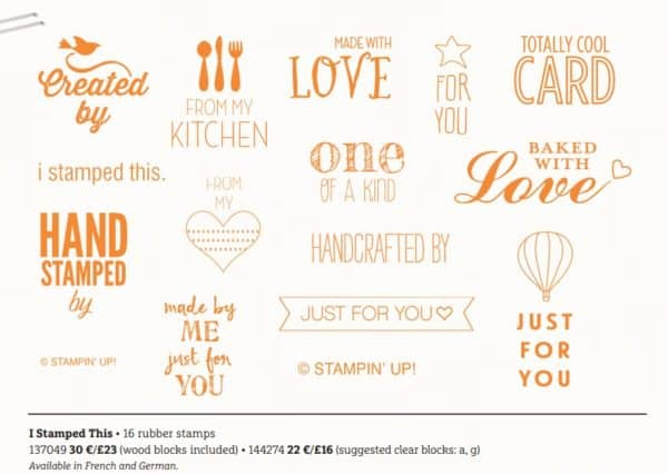 I Stamped This stamp set