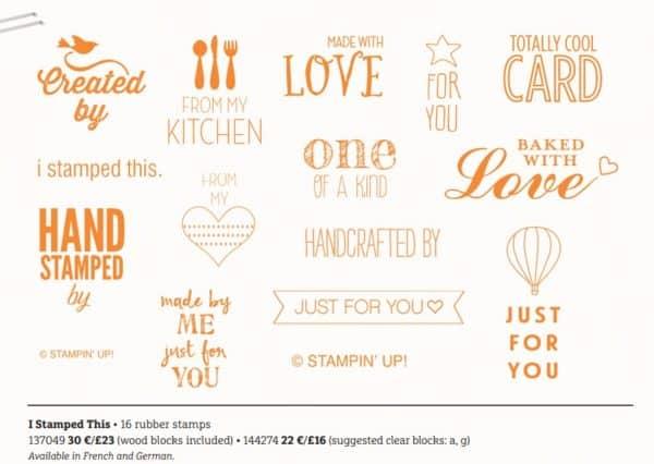I Stamped This stamp set