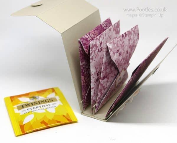 Pootles' Way Back Wednesday Tea Bag Holder Folder Pinks