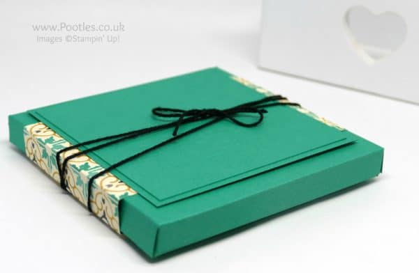 Pootles' Way Back Wednesday box for 4 x 4 Cards Emerald Envy