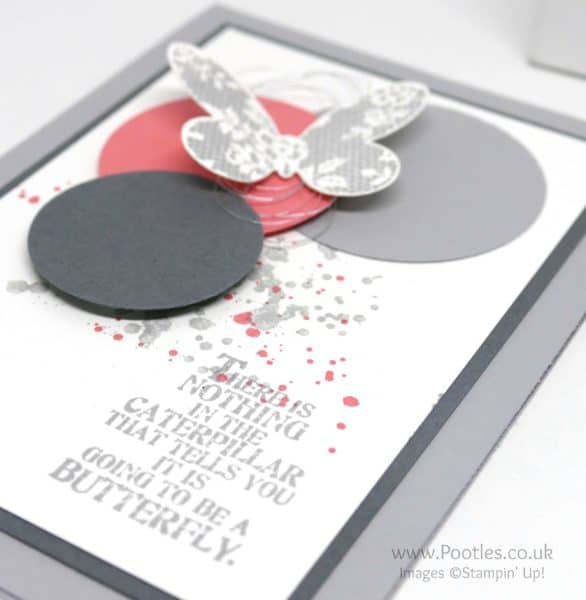 Stampin' Up! Demonstrator Pootles' Colour Challenge 008 Flying butterflies